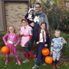 Local GAD Conor Brown and his children (l to r): Supergirl (Fiona), Rockford Peach (Leigha), Kitty (Nora), Ginny Weasley (Kiera) and Stormtrooper (Colin).