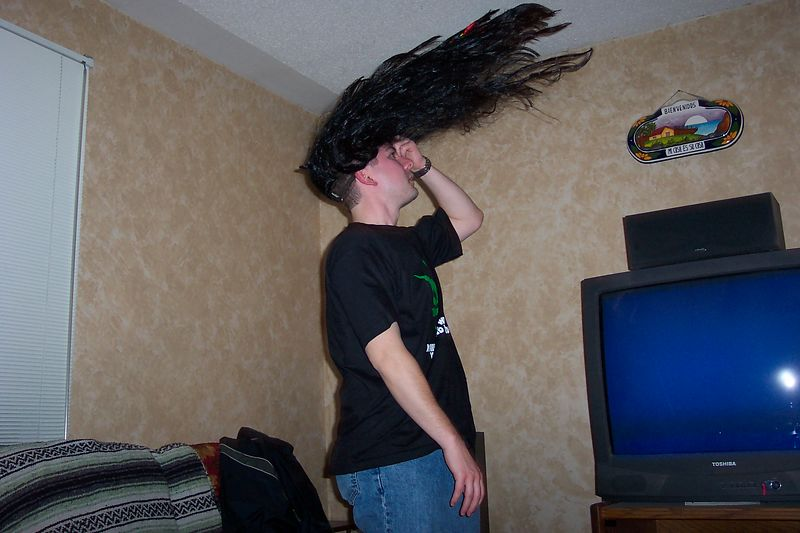 Stoner Uhler flipping his hair.