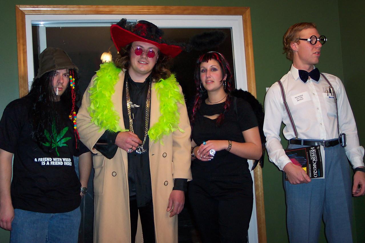 Stoner Uhler, Pimp Boris, Evil Angel Andrea, Nerd Cory.