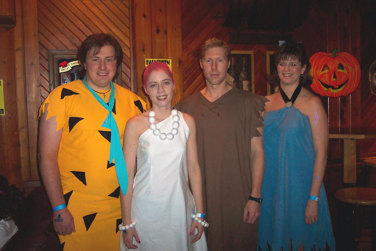 Fred (Boris), Wilma (Tamara), Barney (Cory), Betty (Wendy)