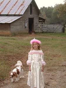 Princess Summer and her royal dog, Auburn.