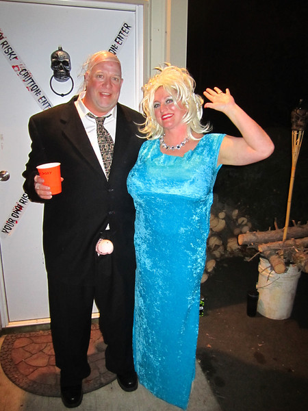 Bill and Katie (I mean Anna Nicole Smith) at their grand Halloween party!