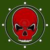 14073837-red-skull-drum-on-the-khaki-background