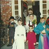 Midvale Lane trick or treating group