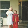 """Britt with her """"Big sister"""" Jen after a Halloween party 10/99"""