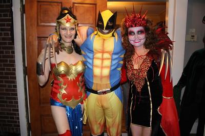 Anime Wonder Woman, Wolverine, and