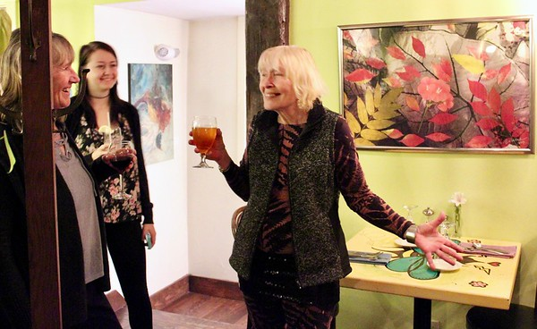 17.11.19 Opening Reception for Art Exhibit by Bia Winter at Slate's Restaurant in Hallowell