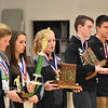 GREG SUKIENNIK  -- MANCHESTER JOURNAL<br /> Members of the Arlington Memorial High School girls and boys' soccer teams were honored at the high school on Monday morning.