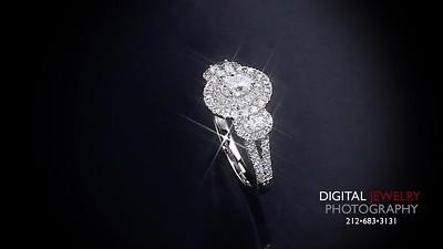 3 Stone Diamond Halo Ring Flyover 07