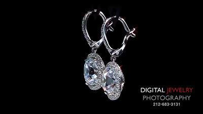 3ct Cushion Halo Diamond Earrings djp logo