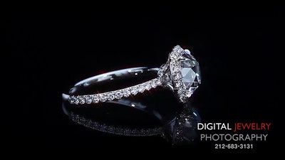 2 38ct Cushion Halo Ring double with DJP logo
