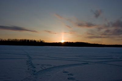 Hankasalmi Sunpillar and faint sundogs.