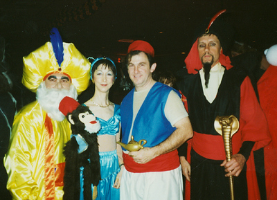 Cast of Characters from Walt Disney's animated feature, Aladdin