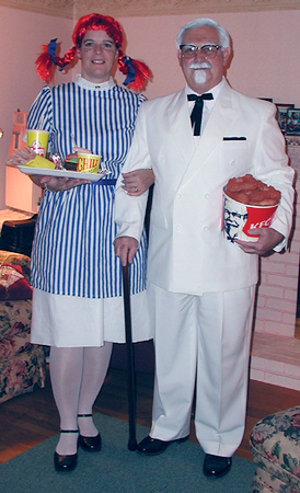 Wendy (Judi) and the Colonel (Dave)