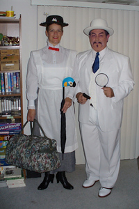 Mary Poppins (Judi) and Charlie Chan (Dave)