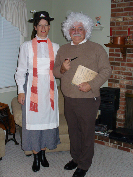 Mary Poppins (Judi) and Albert Einstein