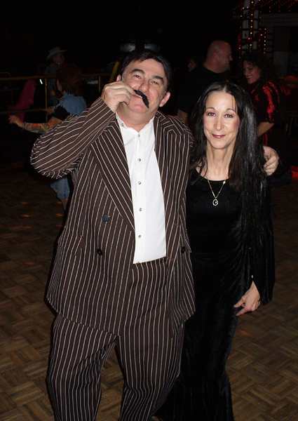 Gomez (Eddie) and Morticia (Mary) Addams