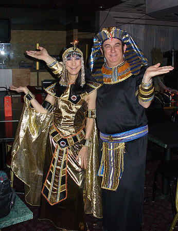 Cleo (Mary) and the Pharaoh (Eddie)
