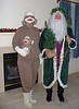 Sock Monkey (Judi) with Father Christmas (Dave)