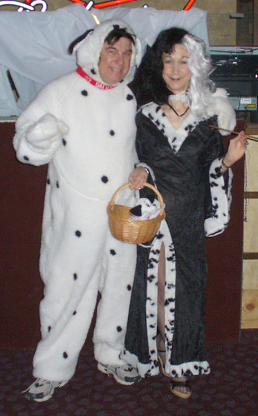 Cruella DeVille (Mary) and a Dalmation (Eddie)