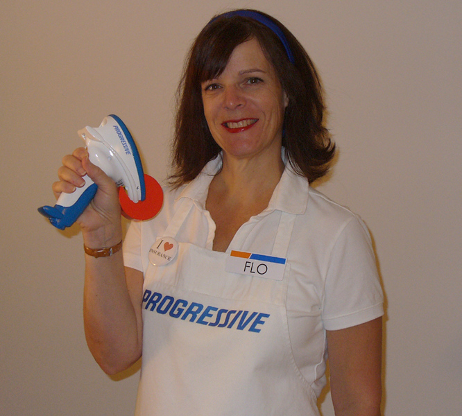 Judi as Flo, The Progressive Insurance Girl