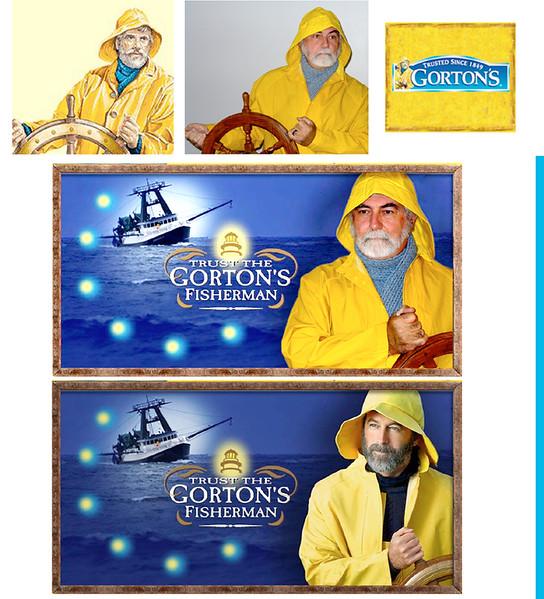 Gorton Fisherman character comparison