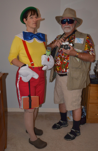 Pinocchio and Jiminy with Tourist (Dave)