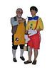 Geppetto (Dave) and Pinocchio (Judi)