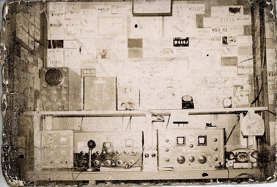 NY Ham Shack Circa 1958 K2KMA Photo is from an old Polaroid