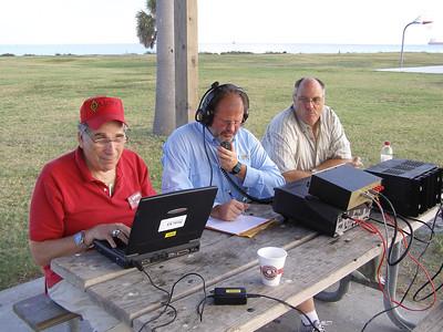 KK5W at Museum Ships Weekend 2011 - Darrell KC5JAR, Dwayne KB5YTA, Ron AE5NO See no evil, Speak no evil, type no evil