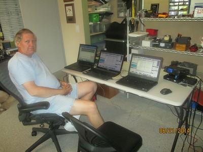 Ron, WD4AZ, networking the FD laptops