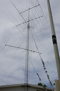 Rohn 60 ft tower.  Guyed at 30 ft & 60 ft