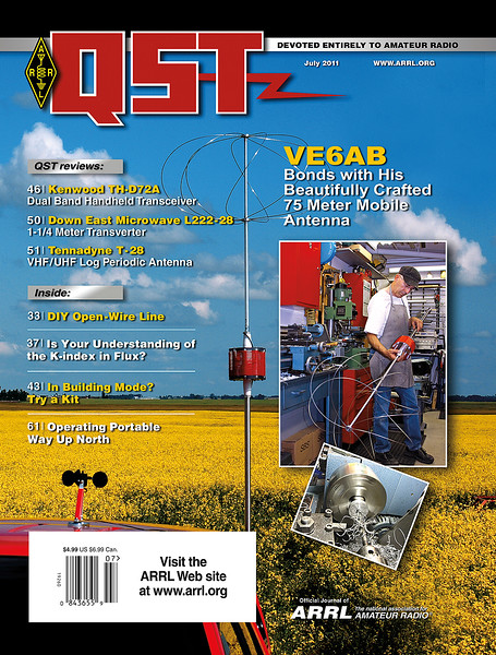 QST 2011 Cover - VE6AB Antenna Project