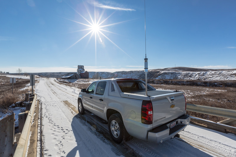 Operation Radio while GhostTowning in southeastern Alberta