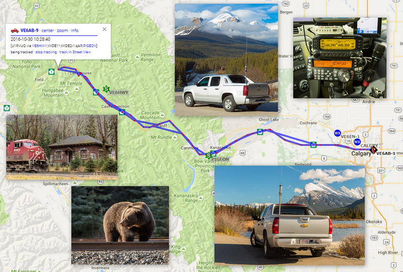 Mountain Parks APRS Road Trip