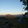 After finishing the W6/NS-273 activation I made my way to Pinoli Ridge W6/NS-223 for the night. I was running a little late after my hike took longer than expected and had to scramble to get the 135' doublet up and my tent ready to go before it got dark. About 20 feet past my tent the summit slopes off steeply to the south. The wind blew all night and into the next day. It wasn't bad, only about 10-15 mph gusting to 20 mph.
