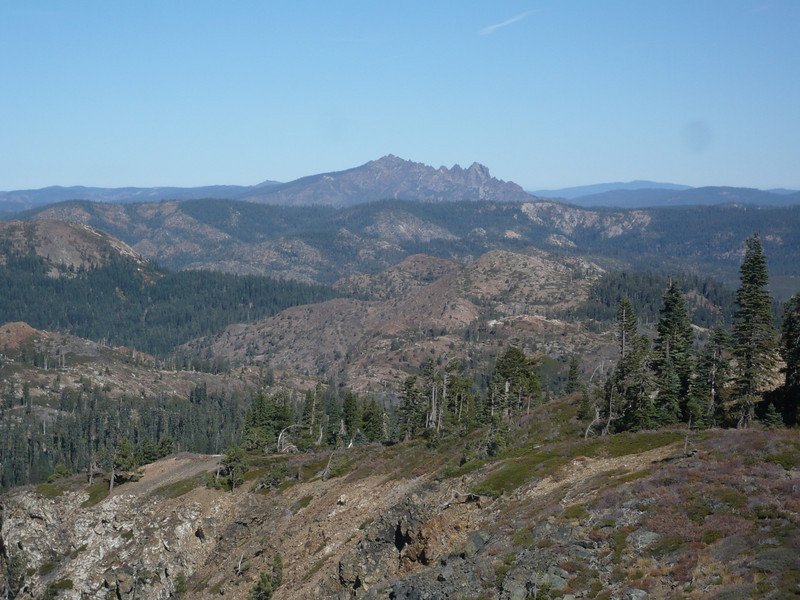 "The Sierra Buttes (W6/NS-139) jut up onto the skyline to the north (see <a href=""http://www.grizzlyguy.com/HamRadio/SOTA-Activation-9202012-Sierra"">my activation album for that summit</a>)."