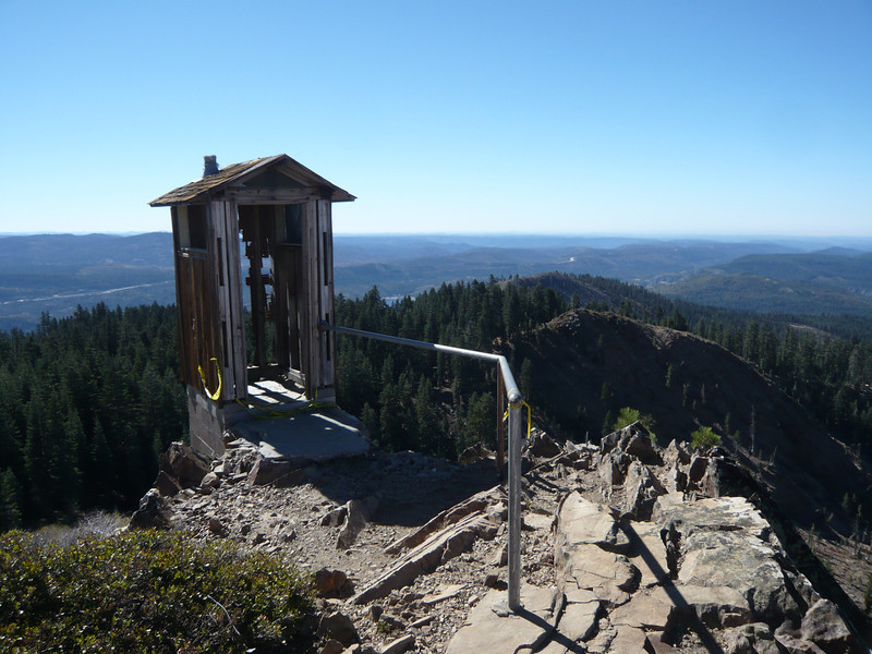 Back in the day, going to the bathroom was an adventure. This old outhouse is at the south end of the summit ridge.