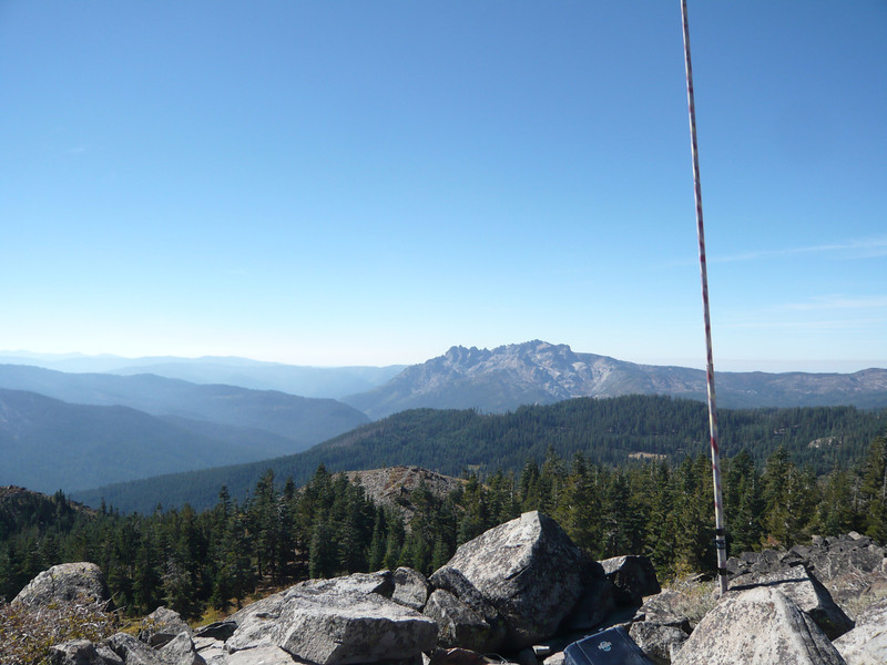 "If I turned my head a bit to the right, I had this view of the massive Sierra Buttes (W6/NS-139) to the southwest. See <a href=""http://www.grizzlyguy.com/HamRadio/SOTA-Activation-9202012-Sierra"">my Sierra Buttes activation album</a> for photos taken from there."