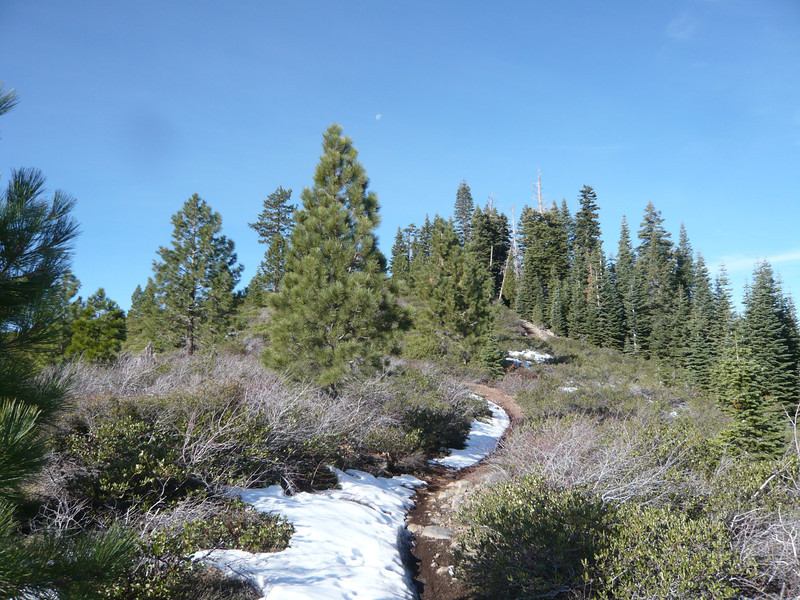 There were patches of snow along the way.