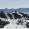 Scott Peak as seen from the top of the Summit Six lift. I skied down to the Scott Chair lift that climbs up the west side of the ridge to a point about 250 vertical feet below the peak.