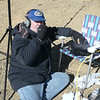 With the cold north wind blowing, Dave makes his first CQ on 20 meter SSB (voice) while running about 15 watts out of his FT-897. I'm ready with my cellphone to spot him on SOTAWatch.org so that the summit chasers will know where to find him. When I found out that his first QSO was with SOTA uber-chaser Dennis, WA2USA... I knew that spotting him wouldn't be required!