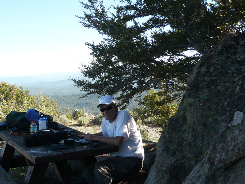 Making contacts! I started on 40m CW and there was a lot of activity. I went up to 40m SSB to work Martin KI6WJP on W6/NW-107 then moved to 20m CW where I had another summit-to-summit QSO with Mike KE5AKL on W5N/SI-001. 24 QSOs in total, all but one on CW.