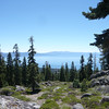 Lake Tahoe from a point that is down the ridge and a bit below the activation zone.