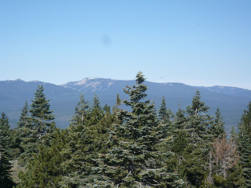 To the west, Mt. Lola (W6/NS-111) still has snow visible on it.