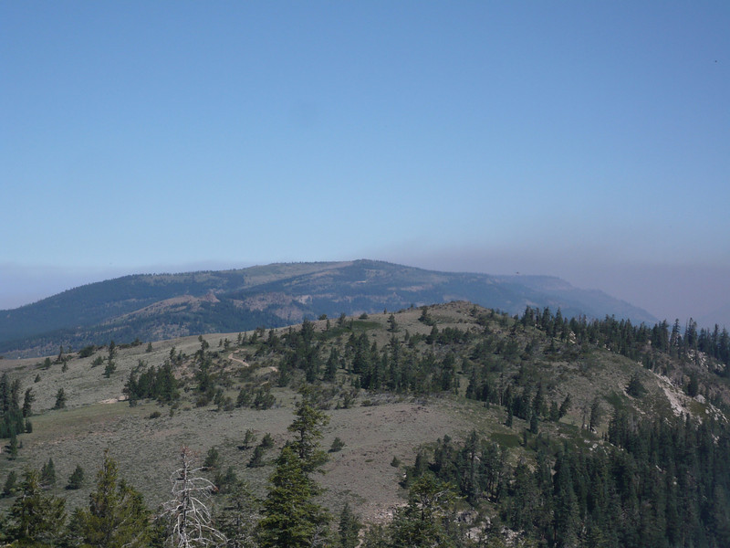 "Here is a better view of <a href=""http://www.grizzlyguy.com/HamRadio/SOTA-Activation-852012-Babbitt"">Babbitt Peak (W6/NS-132, on the skyline)</a>. The fire lookout on Babbitt Peak is still active and manned by the Forest Service. The peak in the foreground is Ladybug Peak (insufficient prominence to qualify for SOTA)."