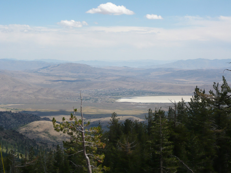 Here is a zoomed in view of White Lake and Silver Springs down in Nevada.