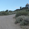 As you continue up the road the summit and lookout tower come into view.