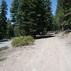 The trailhead for Pt. 7740, the beginning of Tahoe National Forest road 16N73B. The coordinates are 39.25023N, 120.08669W. The hike up forest service road 16N73B and then cross-country to the summit is approximately 1.1 miles long with an elevation gain of about 220 feet