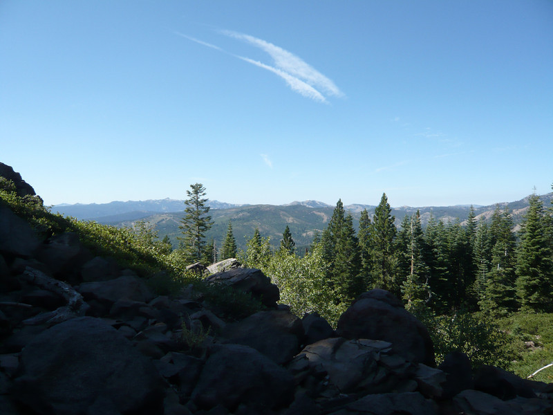 A bit further to the left (south-southwest), Donner Ridge (W6/NS-181) is is the ridge in the foreground in the center of the shot.